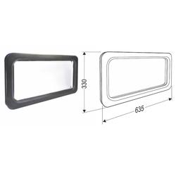 Окно акриловое для ворот с двойным стеклом размер 635х330мм DH85603