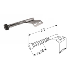 Амортизатор пружинный укороченный 25026