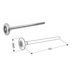 Ролик стальной 190 мм