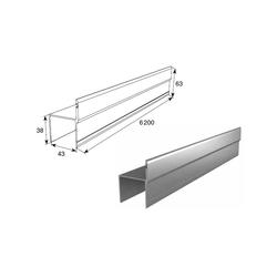 Профиль Ц-образный для калитки усиленный 6100мм