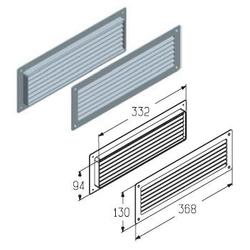 Решетка вентиляционная регулируемая (черная)