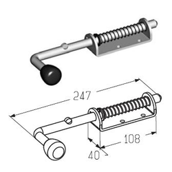 Засов для секционных ворот SB0100