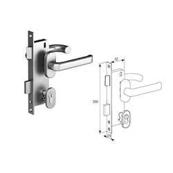 Комплект замка со штифтом на 8 мм для врезной калитки 25148-2N