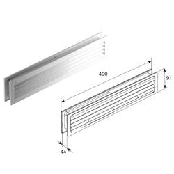 Решетка вентиляционная для панелей ворот 40мм RDH490