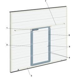 Комплект для врезания калитки для ворот сэндвич-панелью 45мм