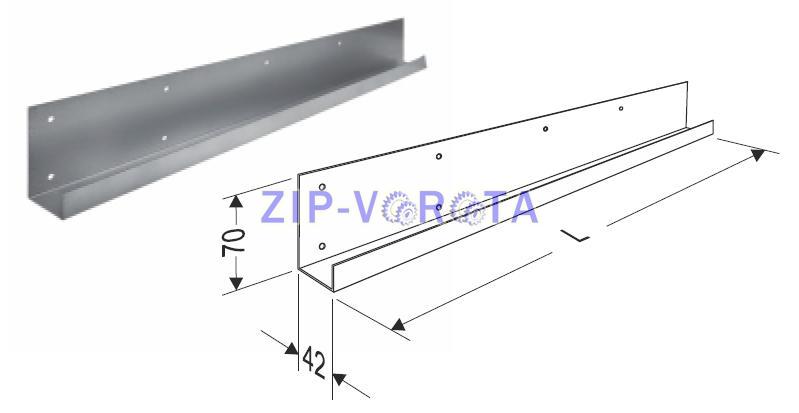 Боковая крышка 500мм для панелей Tecsedo Левая