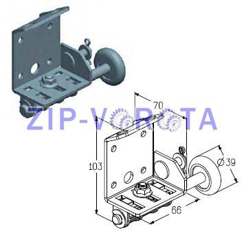 Кронштейн роликовый нижний правый RBT-100R